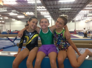 Sky and Savannah with their buddy Megan