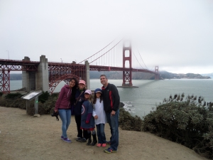 The Golden Gate Bridge Yes, it is August!  It was so cold we wore all the clothes we brought!