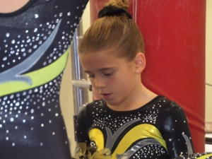 Savannah focusing before her event