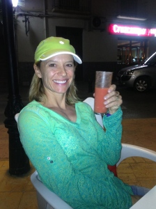 Good gazpacho!  Notice the cool top that I bought with my Athleta gift certificate. Thanks Folsom Women's Health!