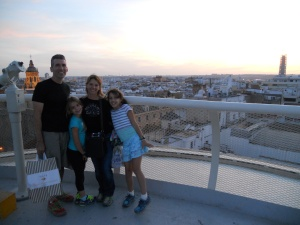 Team Kezmoh from the top of Metropol Parasol