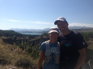 Mike and Leslie after a run in the Gorge. Lake Bermejales in the background.