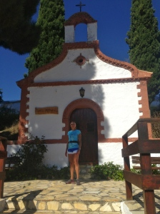 Colleen at the Convent of the Ermita San Isidro just outside of Arenas del Rey