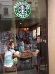 Team Kezmoh at Starbucks in Sevilla!