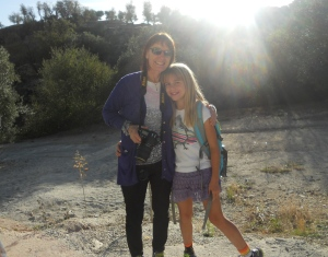 Grammy Sandi and Savannah ready to hike to the campo
