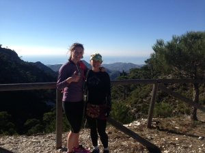 On one of our many exploratory runs. This time Leslie with the lovely Ali Boston who came to spend a week running with trailrunspain.com