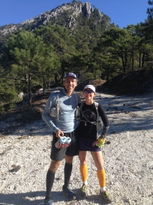 Mike and Leslie feeling strong after the climb to the Puerta de Frigiliana