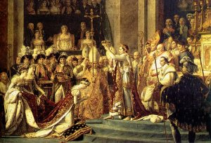 There he his Napoleon crowning himself!