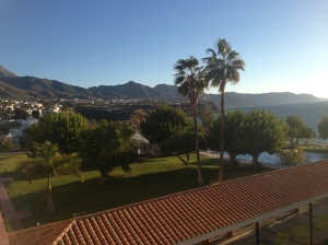 The view from our room in Nerja