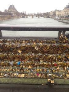 "Pont de Arts ""Love lock bridge"""