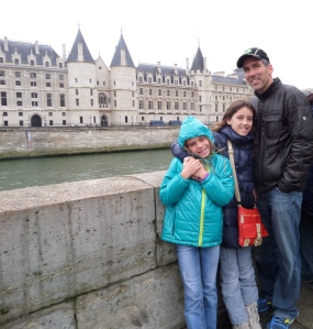 Savvy, Sky and Mike on the River Seine