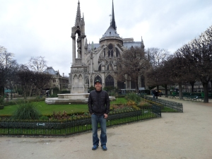 Captain Kezmoh and the East Side of Notre-Dame Cathedral