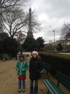 A park in the shadow of the Eiffel Tower