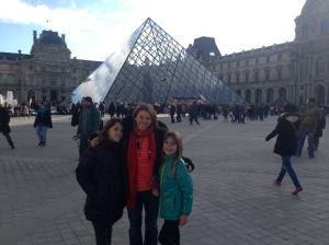 Doesn't everyone who visits Paris have this picture in front of the Louvre