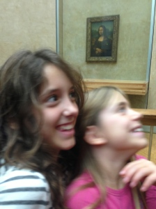 Hard to get a good picture. Here are Sky and Savannah admiring her ladyship.