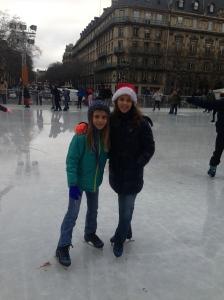 Skating at the Hotel De Ville, Paris