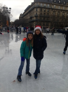 Skating at the Hotel De Ville, Paris