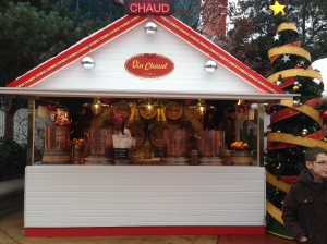 Vin Chaud (hot wine) stand in Downtown Disney. One thing I haven't seen in Orlando or Anaheim!
