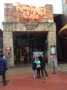 Rainforest Cafe. Look, no line!