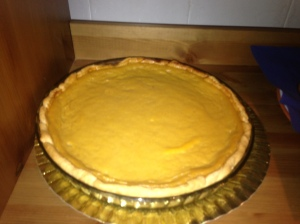 Pumpkin pie made with real pumpkin!