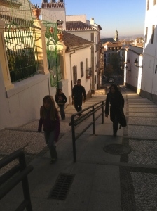 The walk from the Albacín up to the Alhambra