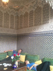 After a rest in our room we checked out one of the lovely lounge areas around the courtyard. Notice the traditional z tiles