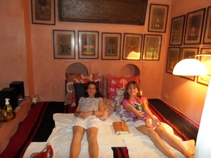 Having pedicures in Marrakech